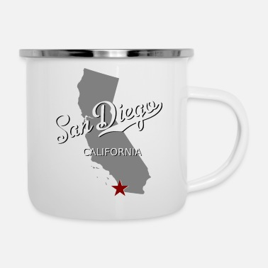 West Coast San Diego - Emaille-Tasse