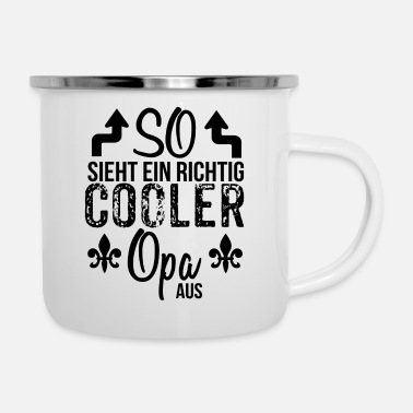 Opa Opa - Emaille-Tasse