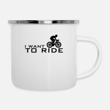 Set I want to ride Bike Cycle Bicycles - Emaille-Tasse