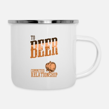 Hilarious I m not addected to Beer Relationship - Emaille-Tasse