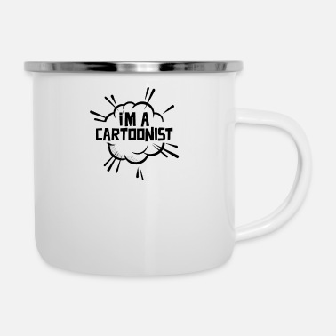 Cartoon cartoon - Enamel Mug
