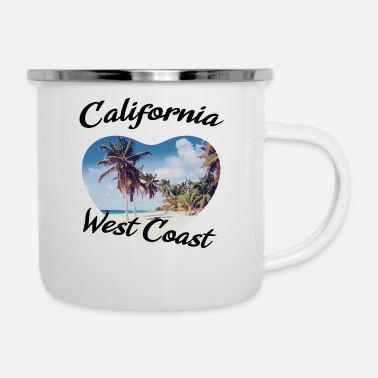 West Coast California west coast - Emaille-Tasse