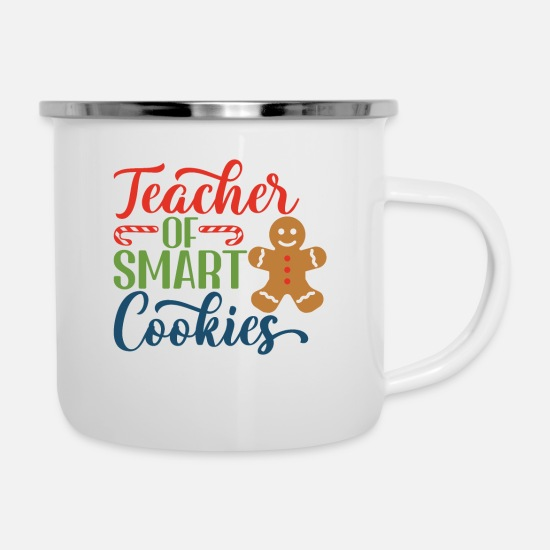 Maths Mugs & Drinkware - Teacher of smart cookies - Enamel Mug white