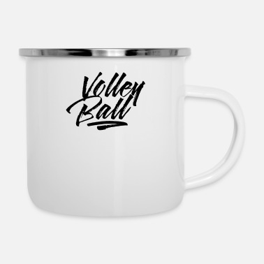 Like Team Vollyball Volleyballer Volleyball Player - Enamel Mug