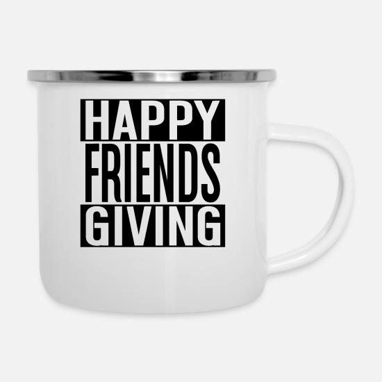 Proverbi Tazze & Accessori - Happy Friends Diving - Regalo di Friendsgiving - Tazza smaltata bianco