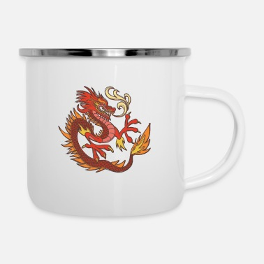 Shack Fire dragon colorful dragon in chinese style - Enamel Mug