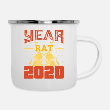 Rat The Chinese Year of the Rat - Rat - Rat - Enamel Mug