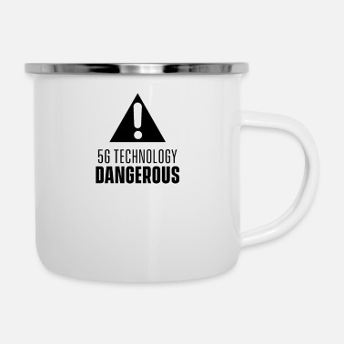 Radio Anti 5G 5G radiation opponents radio cellular - Enamel Mug