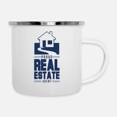 House Building Dealer Realtor Real Estate Agent House Apartment - Enamel Mug