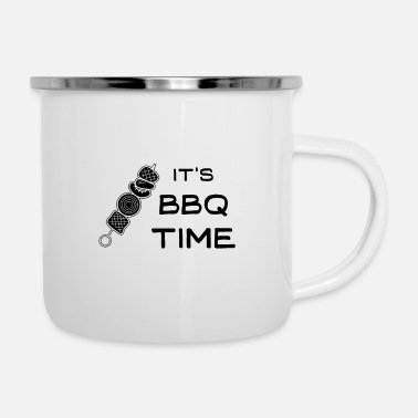 Bbq Auf It´s BBQ-time - Emaille-Tasse