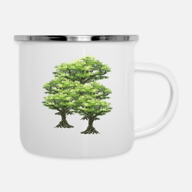 Tree Trees tree forest - Enamel Mug
