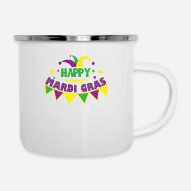 Bourbon Mardi Gras Carnival Louisiana Happy Almost - Enamel Mug