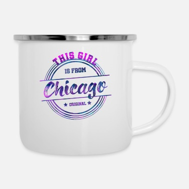 Windy City Chicago Illinois The Windy City America America - Emaljmugg