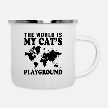 Earring The World Is - Enamel Mug