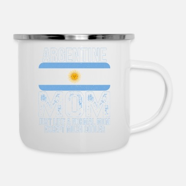 Portuguese Argentine Mom Argentina Flag Mother's Day T-shirt - Enamel Mug