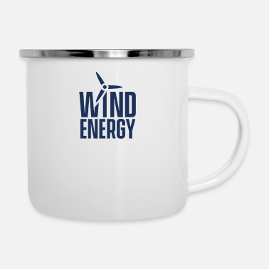 Wind Wind wind turbine wind energy wind power wind turbine - Enamel Mug