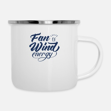 Wind Wind turbine wind power wind energy wind turbine wind - Enamel Mug