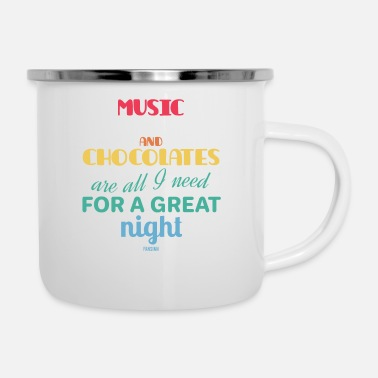 Cupcake Music Movies And Chocolates Geschenk - Emaille-Tasse