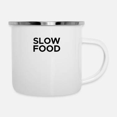 Slow slow food - Enamel Mug
