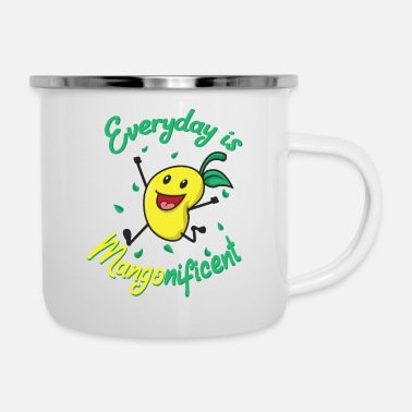 Spirito Mangonificent food and mango lover gift - Tazza smaltata