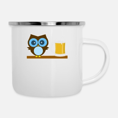 Ugle Owl Lover - Owl I Need Is Beer - Emaljekopp