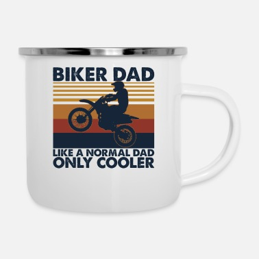 Sir Biker Dad T Shirt Like A Normal Dad Only Cooler - Tazza smaltata
