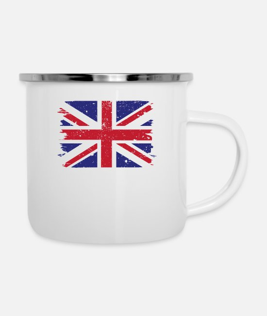 The British Empire Mugs & Drinkware - Union Jack Vintage - Enamel Mug white