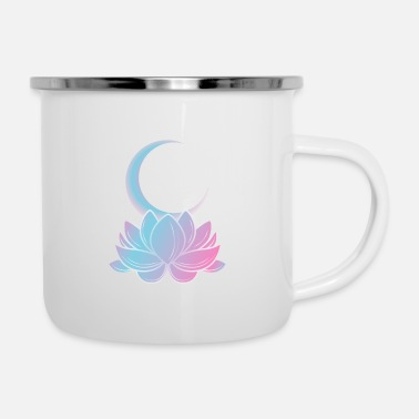 Soul Lotus moon ghost positive person gift - Enamel Mug