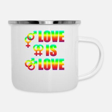 Miscellaneous Love Is Love Gay Lesbians Love Freedom - Enamel Mug