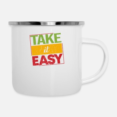 Dub Reggae Take It Easy Proud Ragga Gift - Emaljekrus