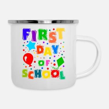 Change First Day Of School, Back To School - Enamel Mug