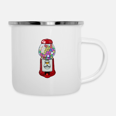 Machine colorful chewing gum gift for gumball machine - Enamel Mug