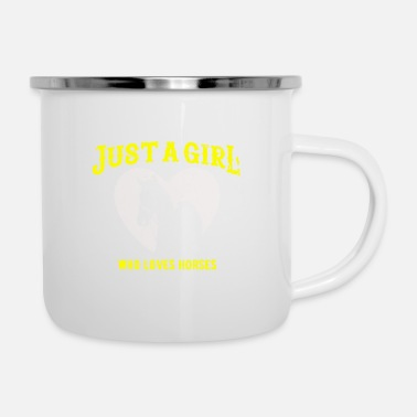 Springreiten Just a Girl who loves Horses - Emaille-Tasse