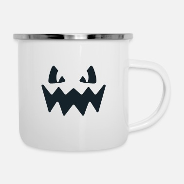 Mother's Day Pumpkin Face Halloween - Enamel Mug