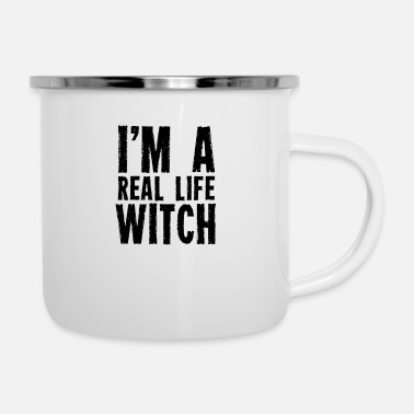 Present I am a real witch witches witchcraft wizardry - Enamel Mug