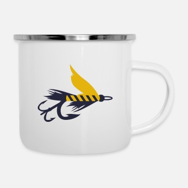Wet Fly fishing fly fly fishing symbol nymph - Enamel Mug