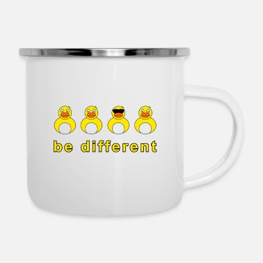 Squeaker be different squeaky duck - Enamel Mug