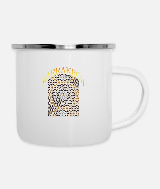 Regalos Mugs & Drinkware - marrakech decoration - Enamel Mug white