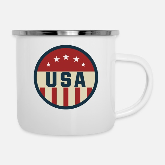 Westside Mugs & Drinkware - Usa - Enamel Mug white