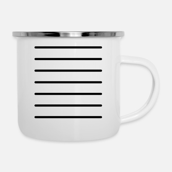 Pattern Mugs & Drinkware - Grid lines template - Enamel Mug white