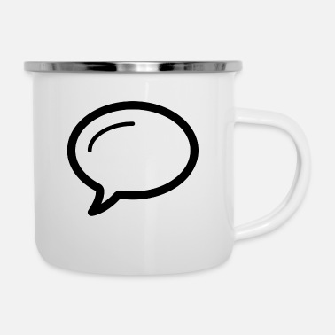 Speech Balloon Linecons speech bubble - Enamel Mug