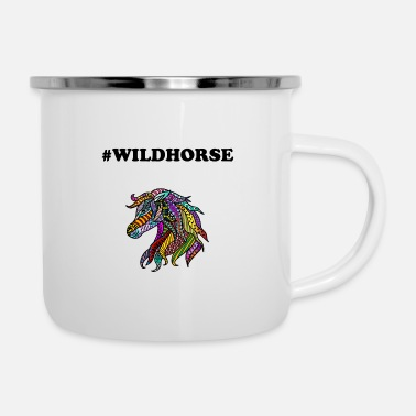 Stallone AKE Wildhorse idea regalo colorato stallone cavallo - Tazza smaltata
