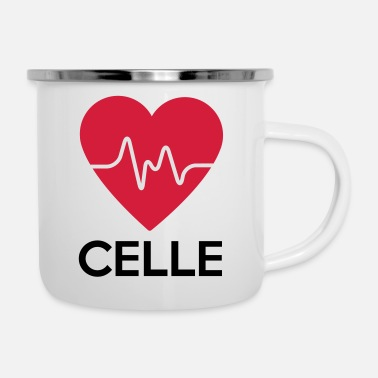 Cell heart Celle - Enamel Mug