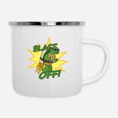 Off Blast Off! - Tazza smaltata