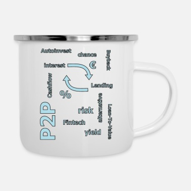 Personal P2P - person to person credit - Enamel Mug