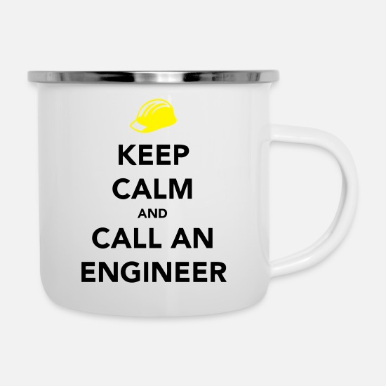 Ingenieur Tassen & Becher - Keep Calm Engineer - Emaille-Tasse Weiß