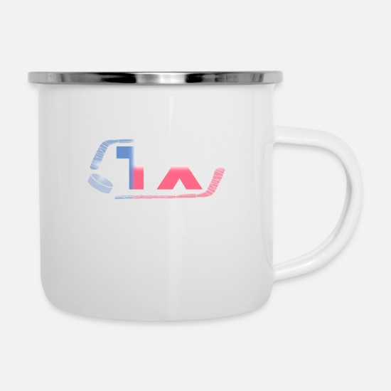 College Mugs & Drinkware - Hockey State Texas - Enamel Mug white