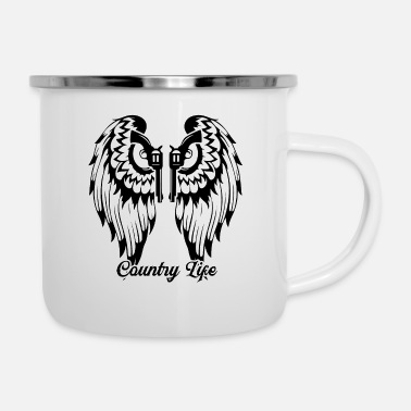 Country Life Angels Country Life Gun Rechte - Emaille-Tasse