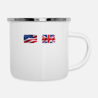 Leicester Half British Half American Totally Awesome - Camper Mug