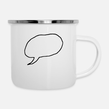 Speech Balloon speech bubble - Enamel Mug